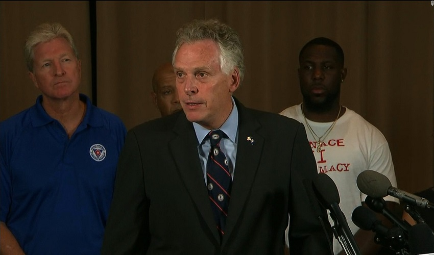 Virginia Governor Terry McAuliffe Holds News Conference On Charlottesville Violence