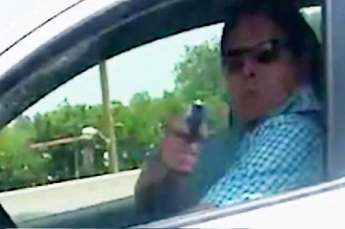 Woman Captures Video Of Driver Pointing Gun At Her
